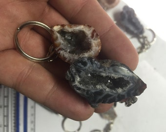 Ocho Geode Keychains