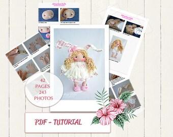 "PDF muñeca de tela 15"", dolls, tutorial, pattern dolls, dolls , pdf , dolls , patrón de muñeca 40cm, se queda de pie sola."