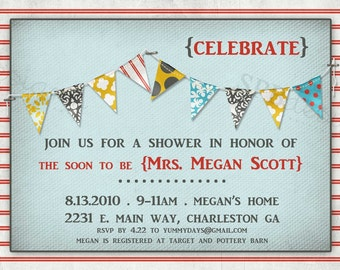 Baby Shower or Bridal Shower Invitation -- Pretty Party