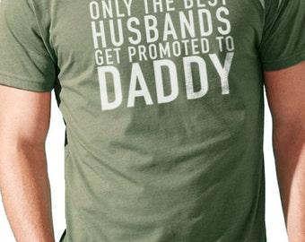 Dad Shirt Only The Best Husbands Men's TShirt Dad gift Husband Gift Wife Gift Husband Shirt Husband Birthday