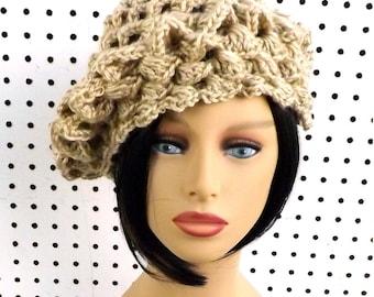 Crochet Beret Hat, Crochet Hat Womens Hat Trendy, Womens Crochet Hat, Crochet Shell Stitch, Crochet Beret Hat, Bone Hat, Lena Crochet Hat