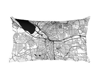 Syracuse Pillow, Syracuse Decor, Syracuse Throw Pillow, Syracuse Gift, Syracuse Map, Syracuse Art, Syracuse NY, Syracuse New York, Cushion