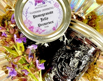 Pomegranate Jelly~ Goddess Offering, Hecate Demeter Persephone, the underworld, witchcraft offering, witchcraft oil, spell candle, Wicca