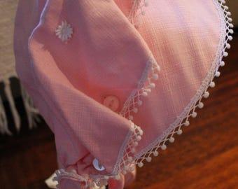 Pink Vintage Bonnet