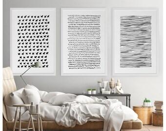 Abstract Wall Art, Set Of 3, Abstract Watercolor, Large Abstract Art,  24x36, Abstract Art Print, Minimalist Art, Large Print, Modern Art