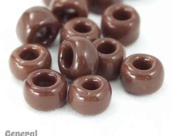 6/0 Opaque Chocolate Japanese Seed Bead (20 Gram) #JBF009