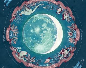 Waxing crescent moon /// Square print