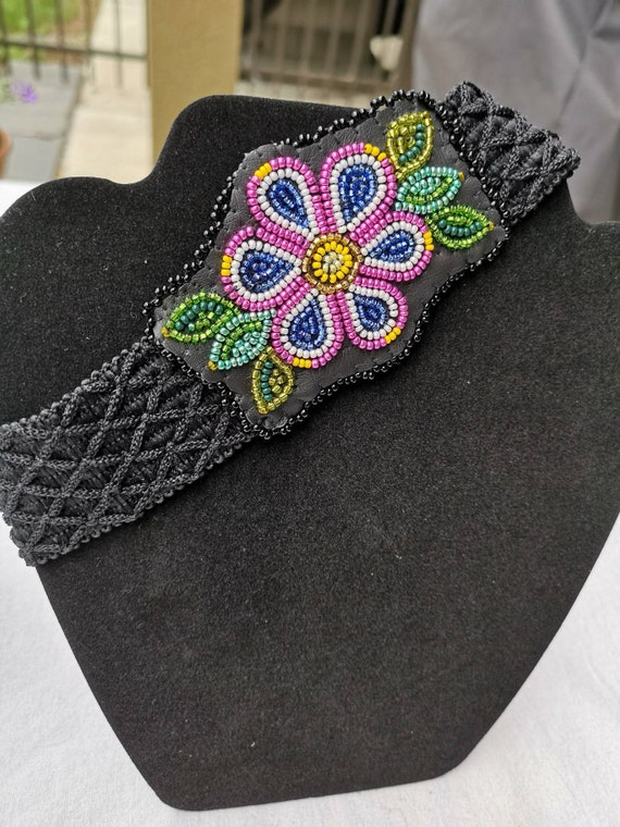 Beaded Gwich'in Floral Headband