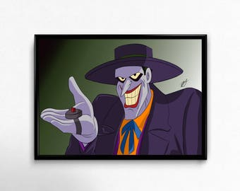 The Joker From Batman the Animated Series Art Prints