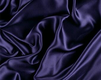 Dark Purple Silk Charmeuse, Fabric By The Yard