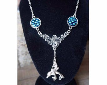 Mermaid and Dolphin necklace