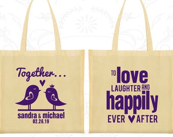 Wedding Bags, Tote Bags, Wedding Tote Bags, Personalized Tote Bags, Custom Tote Bags, Wedding Welcome Bags, Wedding Favor Bags (80)