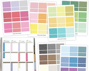 Heart Checklist, Printable Planner Stickers, Instant Download, Printable Checklist Sticker