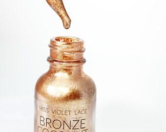 Coconut Shimmer Oil | Bronze Copper Shimmer Body Oil | Natural + vegan