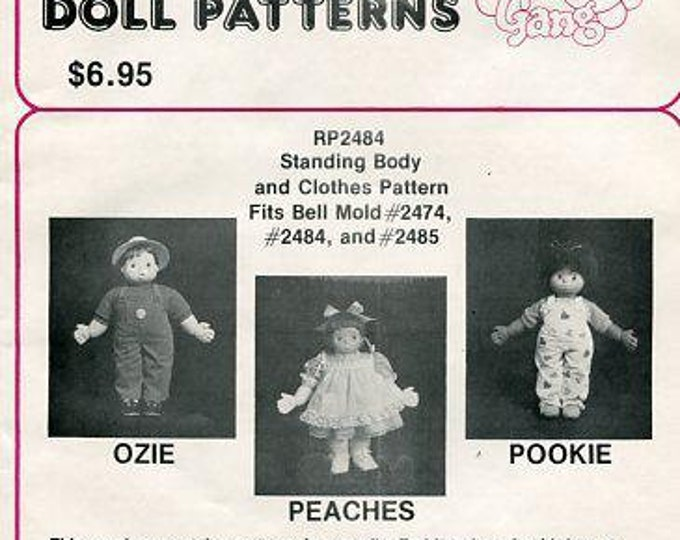 FREE usa SHIP Bell Ceramic Bubble Gum Gang Doll Patterns Ozie Peaches Pookie New Craft Out of Print Old Store Stock Sewing Pattern