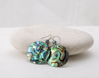 Paua Shell Earrings/Abalone Earrings/Shell Earrings/Abalone Jewelry/Shell Jewlery