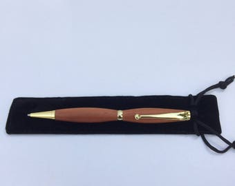 Handcrafted timber writing pen