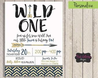 Wild One Invite, Wild One Invitation, Wild One Birthday, Wild One Party, Wild One, First Birthday, First Birthday Invite, Boy First