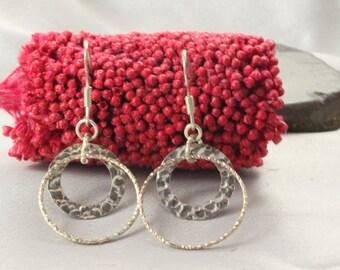 Silver Earrings,Authentic Silver Earrings,Silver Earrings, Sterling Silver Earrings, sterling silver Circles designer, Circles Earrings