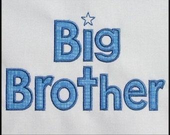 INSTANT DOWNLOAD Big Brother Applique designs 2 sizes