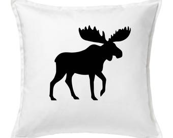 Rustic Country 20x20 Moose Throw Pillow Cover *Free Shipping*