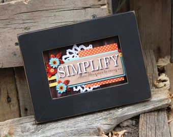SIMPLIFY Let His grace carry us.- 4x6 Print LDS Confrence