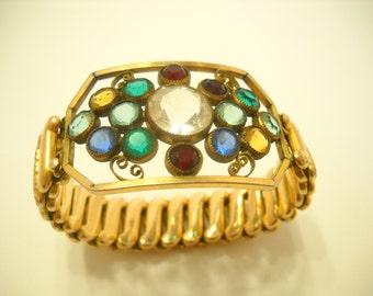 Vintage Victoria Crystal Stretch Bracelet (3944)