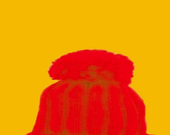 peeking cat in a wooly hat Art Print by Giraffes and Robots