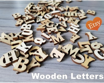 100 pieces of Wooden Letters for mixed media