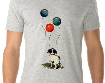 dog - dog shirt - dog tshirt - mens shirts - dog lover tshirt - dog lover gift - happy shirt - encouraging gift - ALWAYS LOOK UP - crew neck