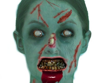 Zombie apocalypse photo fantasy portrait, Zombie apocalypse digitized photo transformation
