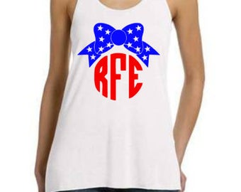 July 4th Tank, 4th of July Tank, Merica, Merica Tank, July 4th outfit, Fourth of July, July 4th Monogram, Flag Monogram, 4th of July