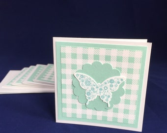Butterfly Notecards// Set of 5// Blank Cards// Thank You Cards// Enclosure Notes