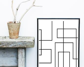 Minimalist Poster, Geometric Art, Printable Art,  Geometric Print, Scandinavian Art, Wall Decor, Abstract Art Print, Instant download