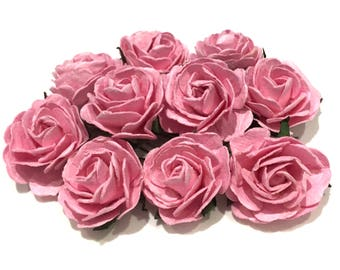Pink Heritage Mulberry Paper Roses Hr008