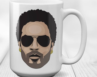 Lenny Kravitz- Rock music Singer,Songwriter, Actor & Composer  gift mug,coffee cup,birthday present tea mug, 15 oz ceramic tea cup
