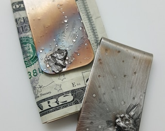 Graduation Gifts |  METEORITE | Money Clip | Unique Gifts For Men | Tech Gifts | Science Gift | Gifts For Dad | Father's Day Gifts