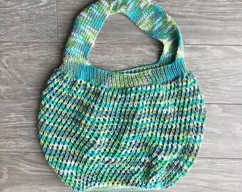 Knit Market Bag, Knit Bag, Knit Reusable Bag, Knit Shopping Bag, Knit Bag, Reusable Shopping bag, Farmers Market Bag, Knit Accessories