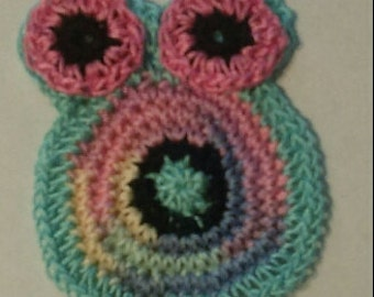Crocheted Owl Applique