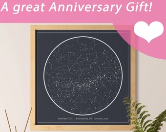 Custom Personalized Night Sky Star Map Digital Download - Custom made for a great Mother's Day, Valentine's, Birthday, Anniversary gift!