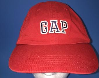 Vintage GAP Strapback Hat size medium large adjustable