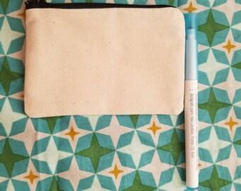 Blank Canvas Bag, Blank Bag, Canvas Zipper Pouch. Canvas BAg 3x5 inches