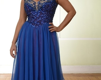 Mike Benet Royal Blue Dress
