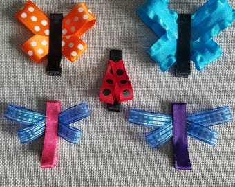 8 Bug Barrettes - Mix and Match 8 Clips