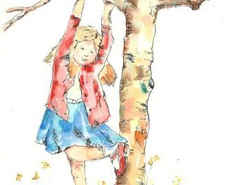 Original Painting - Watercolour - Original Art - Ink and Wash - Children Illustration