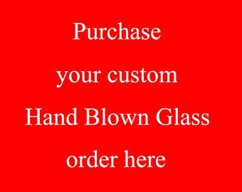 Custom design hand blown glass art
