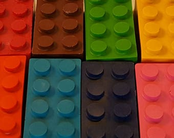 Lego Crayons - Set Of 12 - Goody Bags - Birthday Gifts - KIds Coloring - Party Favours