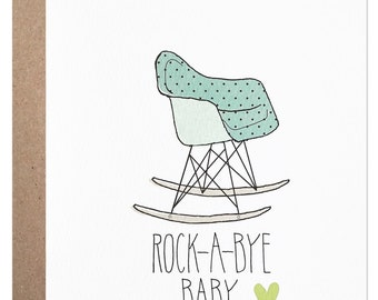 New Baby Boy - Eames Rocking Chair