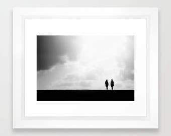 Friends Silhouette Photography Print