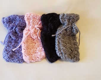 Hand crocheted sachet bags, made to order